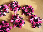 multicoloured spiky funky hair scrunchies/bands for dance, gymnastics, leotard