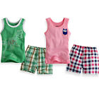 "NWT Vaenait Baby & Kid Boy Girl's Sleeveless  Cute Pyjama Set "" Owl and Tyranno"""