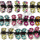 Hair Accessories Fashion Clip Diamond Crystal Rhinestone Samll Flower Kids Girls
