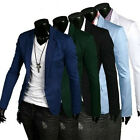 Men's Slim Fit Formal Blazer Jackets One Button Casual Suits Coat Outerwear Tops