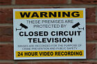 Warning Closed Circuit Television CCTV A4 Sticker Plastic Foamex Or Metal Sign