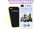 Personalised iPhone 4 & 4S Mobile Phone Case Add your Photo & Name - Ideal GIFT