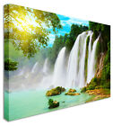 Large Picture Of Waterfall Chinese & Vietnamese border Canvas Wall Art Print
