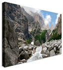Large Picture Of Waterfall In Garden Canvas Wall Art Print