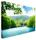 Large Picture Of Waterfall Forest Of Croatia Placid Canvas Wall Art Print