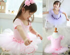 GIRLS TODDLER BALLET TUTU LEOTARD DRESS 3-8Y SHORT SLEEVE PARTY COSTUME NWT