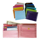 Luxury Genuine Eel skin Leather Billfold Wallet with coin pocket 20 Colors