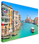 Venice Canal Grande Morning Canvas Wall Art Picture Large + Any Size