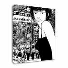 Picture of Japan Illustration Girl Canvas Wall Art Print Large + Any Size