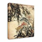 Japanese / Chinese Painting Wooden Walk Canvas Wall Art Print