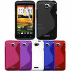 NEW STYLISH GRIP S-LINE WAVE SILICONE GEL CASE COVER FITS HTC ONE X