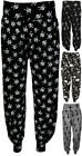 New Plus Size Harem Print Womens Trousers Long Full Baggy Ladies Pants 12 - 26