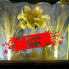 Christmas Sale Sign Tab Snow Snowflake Shop Window Wall Art Decoration Sticker S