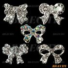 3D Alloy Butterfly Bowtie Rhinestones Nail Art Glitters DIY Decorations 10PCS TY