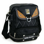 Men's small shoulder messenger bag durable nylon purse with leather decorate 142