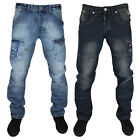 MENS ZICO MJT31 & MJT32 DESIGNER TAPERED FIT DENIM JEANS ALL WAIST & LEG SIZES