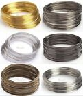 Lots 100/500 Loops Gold/Silver Plated Memory Steel Wire For Cuff Bangle Bracelet