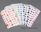 SPOT DOT DESIGN PAPER SWEET / GIFT BAGS BLACK BLUE GREEN PINK PURPLE RED