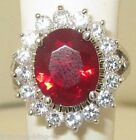 Size H J N P R V 4 5 - 10 11 ROYAL RUBY COLOURED Elegant CZ RING Kate L2456RUBY