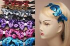 Girl/Ladies Black Elastic Bandeaux  Sequin Butterfly Hairband Headband