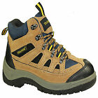 MENS SAFETY BOOTS LEATHER STEEL TOE CAPS TRAINERS HIKING BOOTS SHOES 6-12 UK