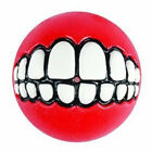 GRINZ BALL MEDIUM Funny Smile Dog & Puppy Rubber Treat & Fetch Ball Toy -FLOATS