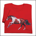 RED GALLOPING PAINT LADIES T-SHIRT 100% Cotton T-Shirts 6.1oz, pre-shrunk cotton