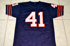 BRIAN PICCOLO #41 BRIAN'S SONG MOVIE FOOTBALL JERSEY NAVY BLUE- ANY SIZE