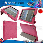 NEW SMART MAGNETIC PU-LEATHER COVER FOR IPAD 2 & 3 WITH EMBOSSED DOTTED DESIGN!!