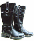 NEW GIRLS BLACK LEATHER WOOL ZIP BOOTS WINTER SCHOOL SHOES SIZES UK 12,5 -3,5