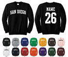 City of San Diego Adult Crewneck Sweatshirt Personalized Custom Name & Number