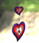 NEW COLOURFUL HEART SHAPED SUNCATCHER (LARGE) GREAT GIFT OR FOR GARDEN WINDOW