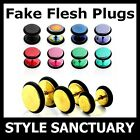Stainless Steel Fake Flesh Plug Earring Ear Stretcher Piercing Titanium Stud NEW