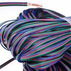 4Pin RGB Extension Wire Connector Cable Cord For 3528/5050 LED Strip Light 22AWG