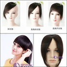 womens remy human hair bang /fringe hand tied lace bangs clip-in hair extension