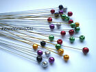 10 X 6mm COLOURED GLASS PEARL WIRE STEMS, BOUQUETS,TABLE DECOR IN MANY COLOURS
