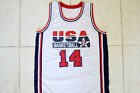 CHARLES BARKLEY #14 TEAM USA JERSEY NEW SEWN WHITE - ANY SIZE