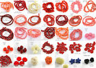 Natural & Synthetic Coral Beads - Choose Color & Style - Great Variety!