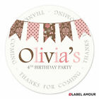 PERSONALISED Birthday Party Bags Favour Sticker Labels | Bunting 2 | 3 Sizes
