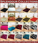 NEW LARGE MEDIUM SMALL MODERN THICK MULTI COLOURED SHAGGY SPARKLE SPLENDOUR RUGS