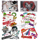 PHOTO BOOTH PROPS/KIT & FRAME-Christmas/Wedding/Hen Party/Stag Night/Selfie Game