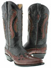 women's burgandy black overlay cowboy western leather ladies boots rodeo riding