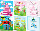 PERSONALISED A4 Scrapbook Doodle Book Colouring Kid Gift for Girls Boys Birthday
