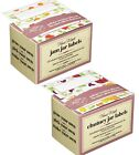 100 PRESERVE JAR LABELS, JAM, PICKLE, CHUTNEY, MARMALADE, Jar & Bottle Labels...