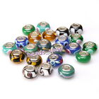 New Wholesale Mixed Lampwork Colorful Round Beads European Beads For Bracelets