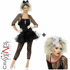 Ladies Madonna 80's Wild Child Celeb Womens Fancy Dress Costume Add Wig 12 - 22