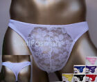 K1511A Mens Sexy Thong Floral Lace Pouch