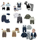 Baby Boy Smart Tuxedo Suit SET, White, Navy, Jacket, Shirt, Vest 3M - Age 2.5