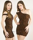 Texture Open Cold One Shoulder Fitted  Evening Clubbing Club Micro MINI Dress