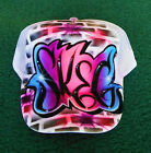 Airbrush Trucker Hat Graffiti Style, Airbrush Graffiti, Graffiti Hat, Airbrush